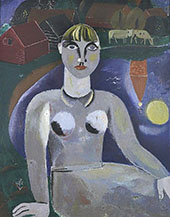 Girl in Blue By Gustave De Smet