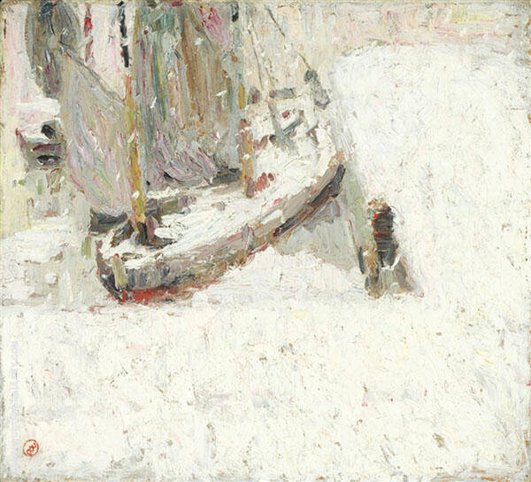 Harbour Under Snow 1908 By Gustave De Smet