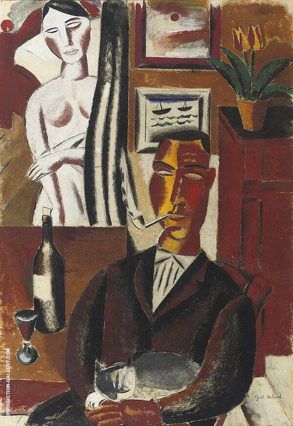 Man with The Bottle By Gustave De Smet