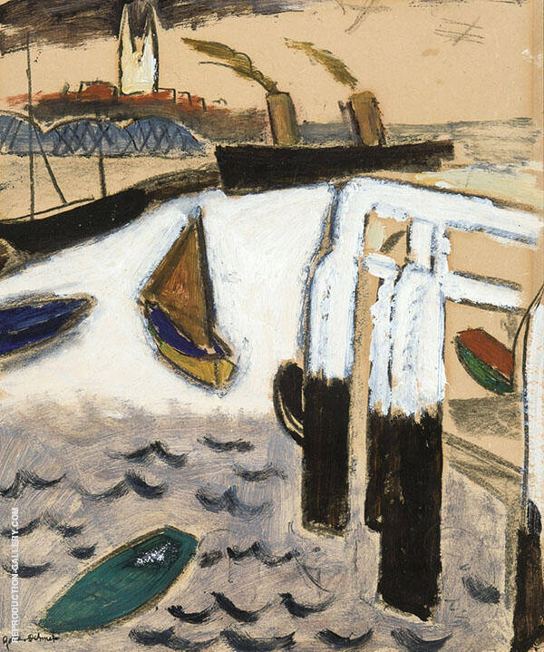 Port of Ostende 1925 By Gustave De Smet