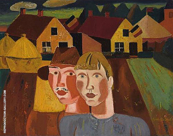 The Village Couple By Gustave De Smet