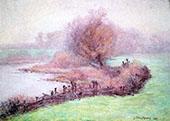 A Misty Morning on The Mississinewa By John Ottis Adams
