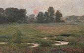 An August Sunset Prairie Dell By John Ottis Adams
