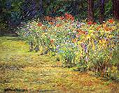 Flower Border By John Ottis Adams