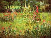 Hollyhocks and Poppies The Hermitage By John Ottis Adams