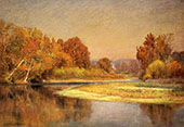 Sycamores on The Whitewater By John Ottis Adams