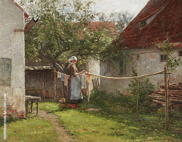 Wash Day Bavaria By John Ottis Adams