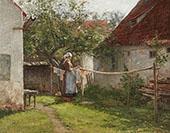 Wash Day Bavaria By John Ottis Adams