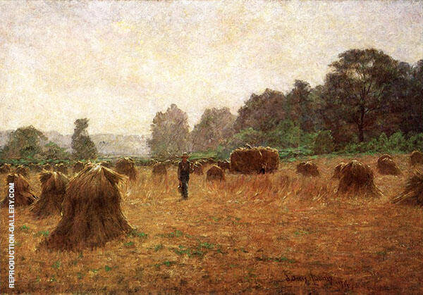 Wheat Wain Afield By John Ottis Adams