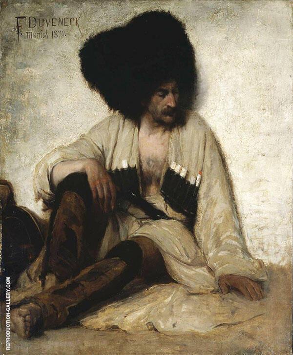 A Circassian American 1870 By Frank Duveneck