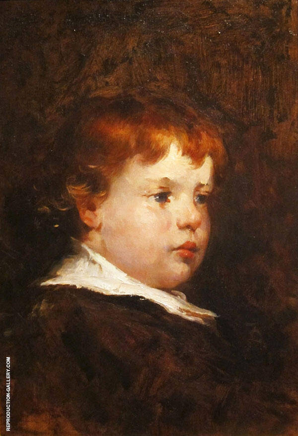 A Red Haired Boy By Frank Duveneck
