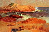 Brace's Rock c1916 By Frank Duveneck