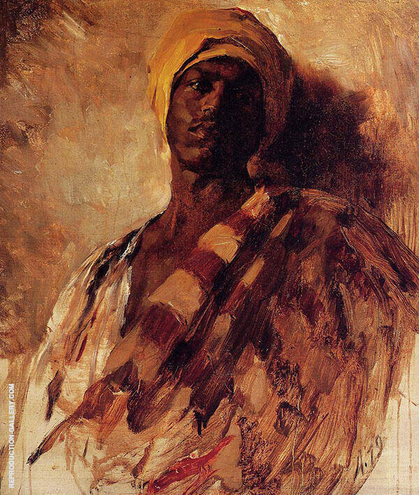 Guard of The Harem Study By Frank Duveneck