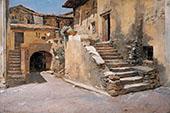 Italian Courtyard By Frank Duveneck