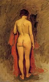 Nude Standing By Frank Duveneck
