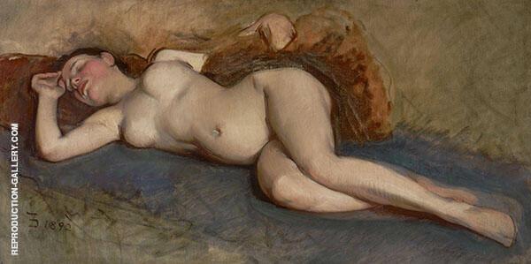 Reclining Nude By Frank Duveneck