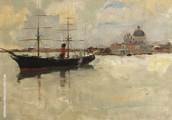 Scene in Venice By Frank Duveneck