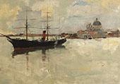 Scene in Venice By Frank Duveneck