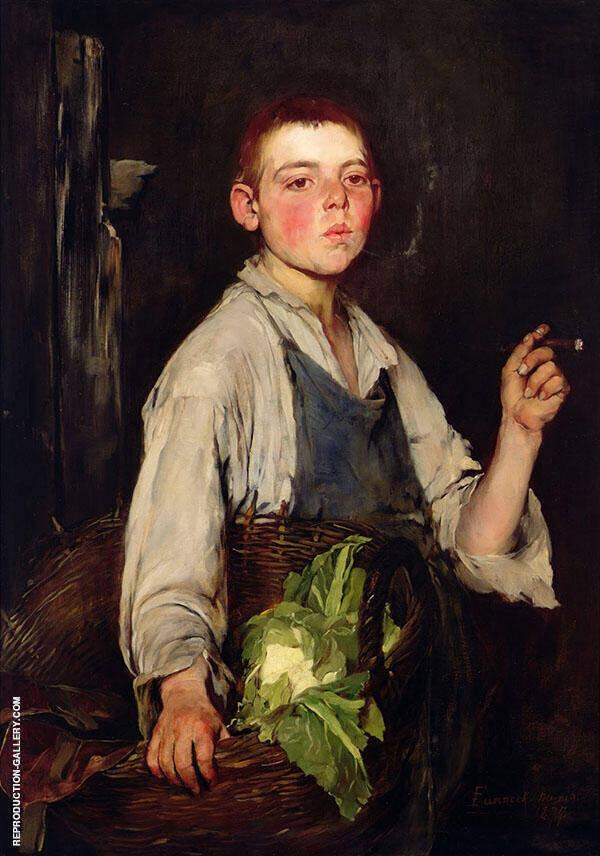 The Cobbler's Apprentice 1877 By Frank Duveneck