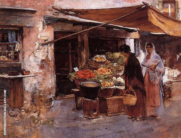 The Venetian Fruit Market By Frank Duveneck