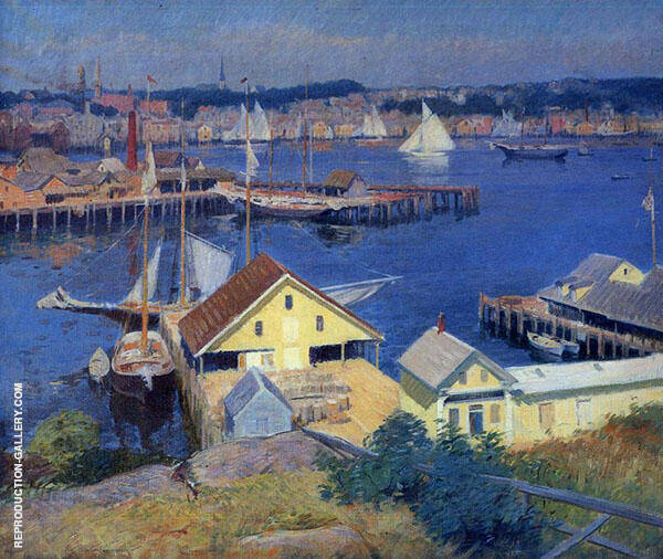 The Yellow Pier Shed 1910 By Frank Duveneck