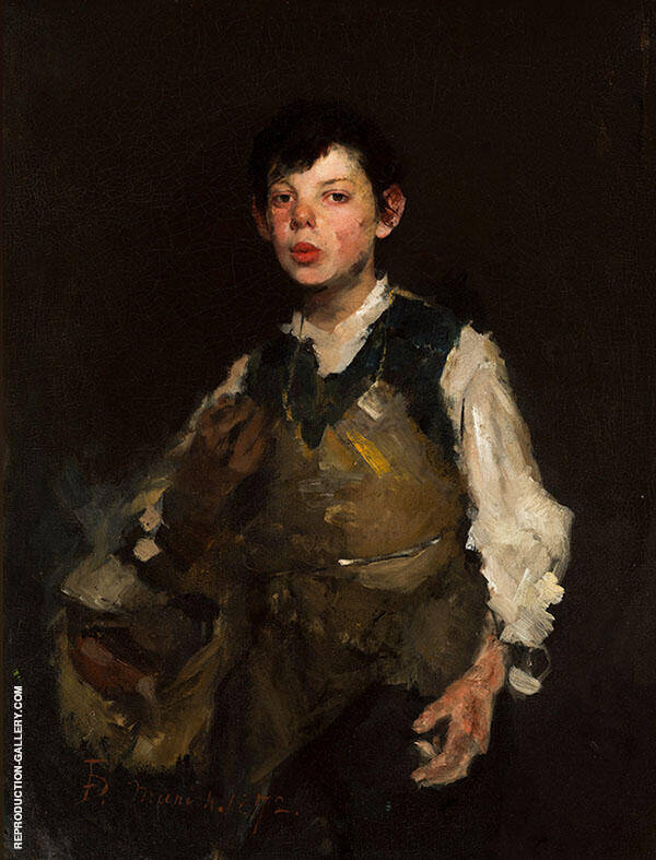 Whistling Boy 1872 By Frank Duveneck