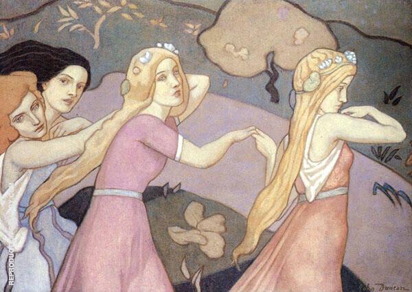 Four Figures in a Landscape 1930s By John Duncan