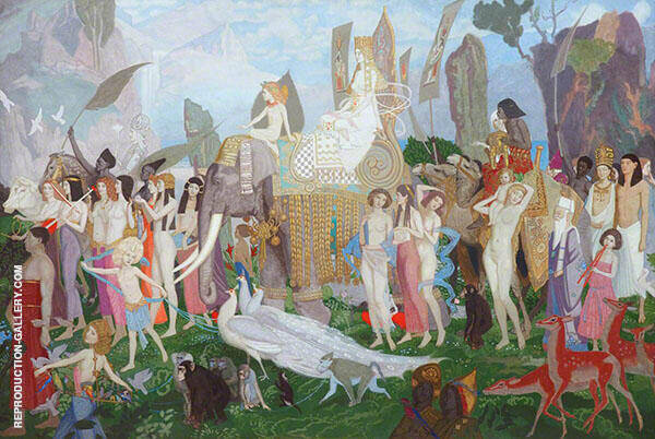 Ivory Apes and Peacocks 1923 By John Duncan