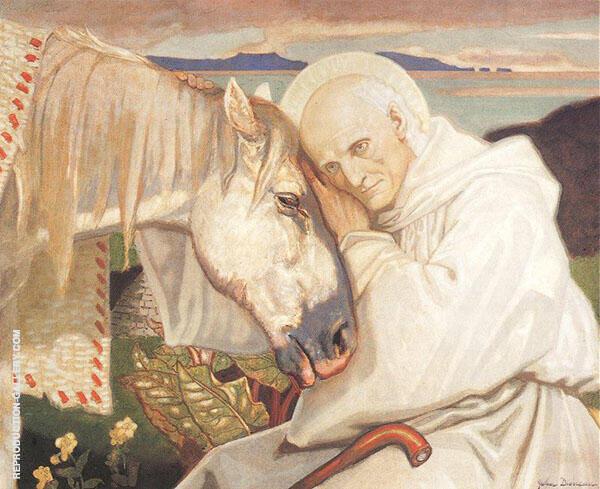 St Columba Bidding Farewell to The White Horse 1925 By John Duncan