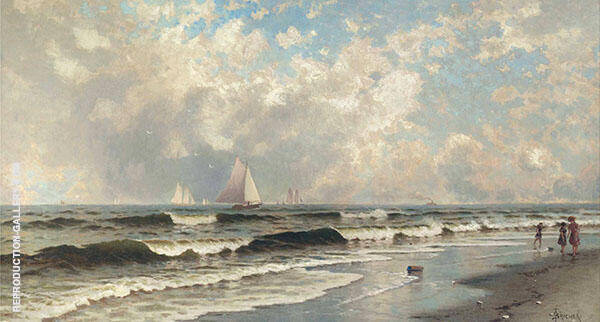 Afternoon Southampton Beach Painting By Alfred Thompson Bricher