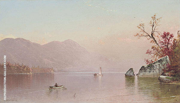 Autumn Mist Lake George 1871 Painting By Alfred Thompson Bricher