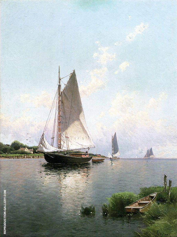 Blue Point Long Island Painting By Alfred Thompson Bricher