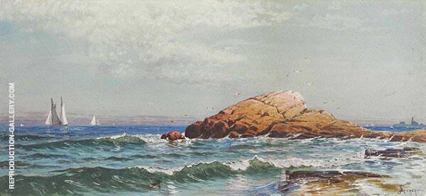 Little Bass Rock Narragansett Rhode Island Painting By ...