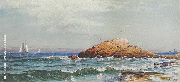 Little Bass Rock Narragansett Rhode Island By Alfred Thompson Bricher