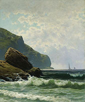 Seascape with Boats Offshore By Alfred Thompson Bricher