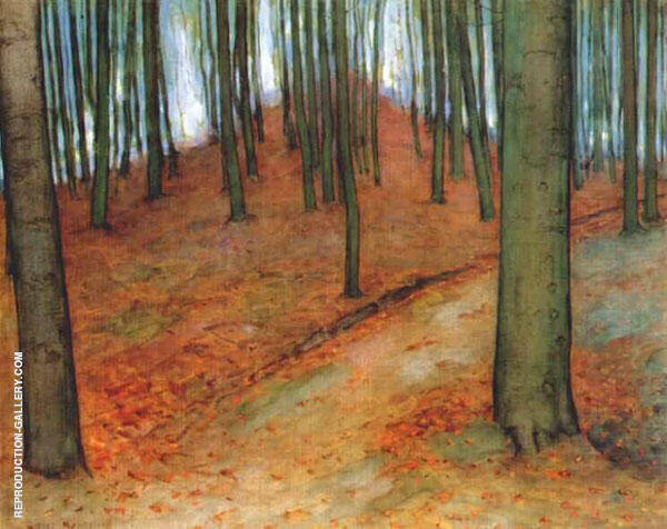 Wood with Beech Trees 1899 Painting By Piet Mondrian