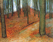Wood with Beech Trees 1899 By Piet Mondrian