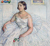 Portrait of The Singer Pierrette Fromentin 1925 By George Morren