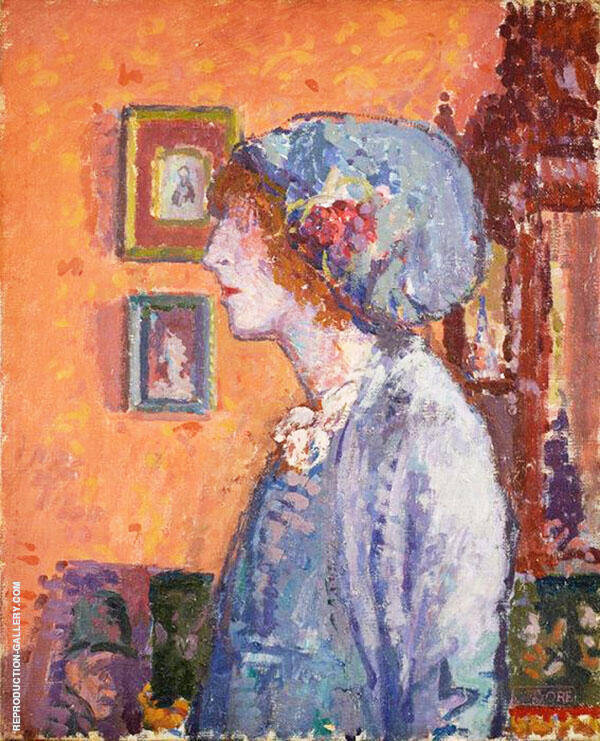 Artists Wife Mollie Gore Painting By Spencer Gore - Reproduction Gallery