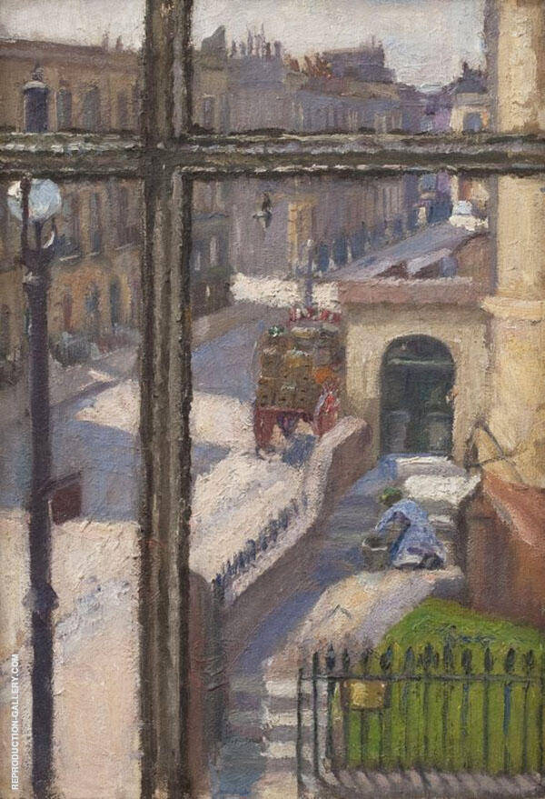 From a Window in The Hampstead Road 1911 Painting By Spencer Gore