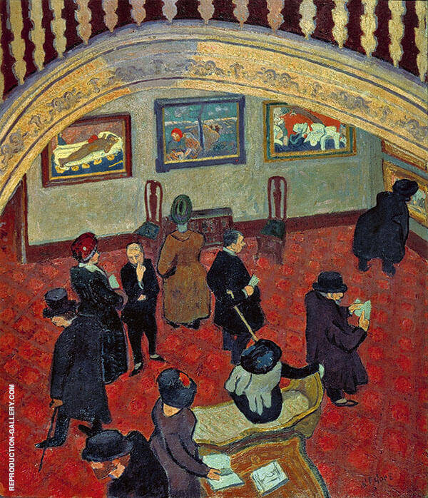 Gauguins and Connoisseurs 1911 Painting By Spencer Gore
