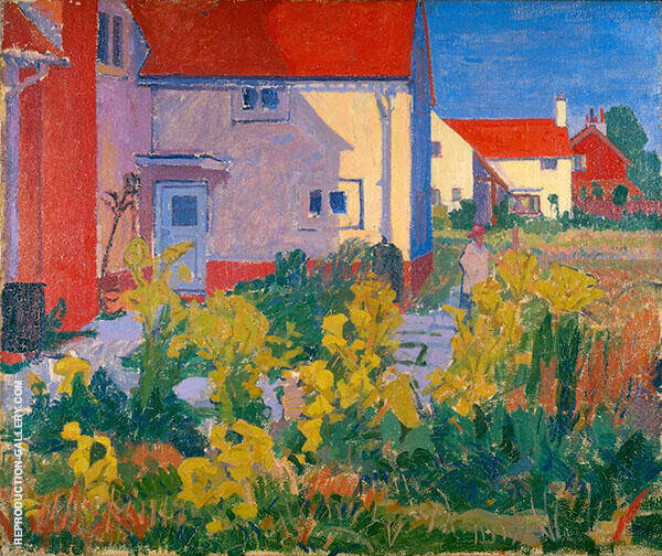 Harold Gilman's House Letchworth 1912 Painting By Spencer Gore