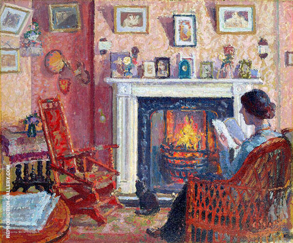 Interior 31 Mornington Crescent London Painting By Spencer Gore