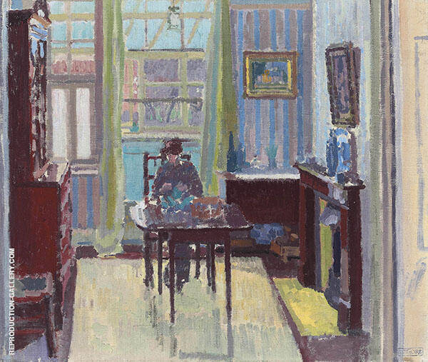 Interior of Room at 6 Cambrian Road Richmond Painting By Spencer Gore
