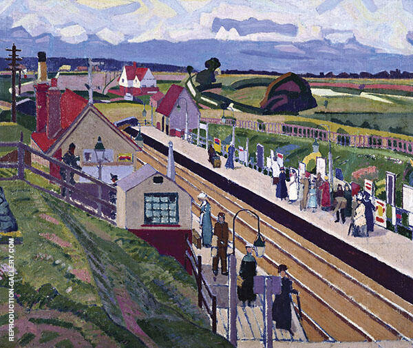 Letchworth Station 1912 Painting By Spencer Gore - Reproduction Gallery