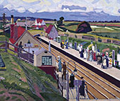 Letchworth Station 1912 By Spencer Gore