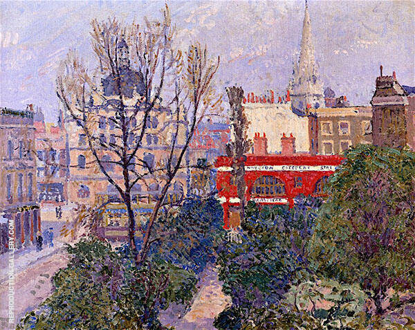 Mornington Crescent Painting By Spencer Gore - Reproduction Gallery