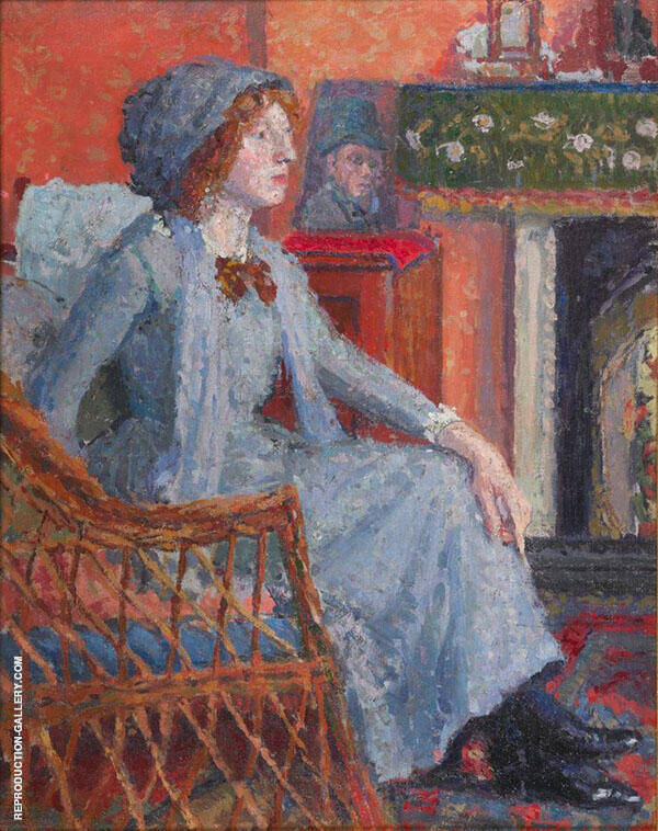 The Artist's Wife Mornington Crescent Painting By Spencer Gore