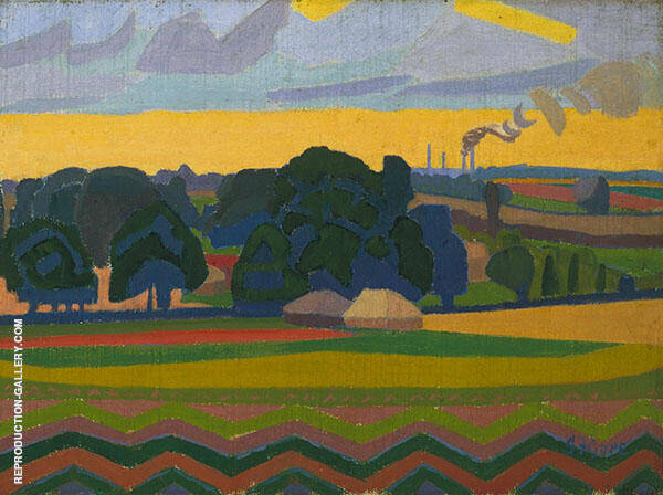 The Beanfield Letchworth 1912 Painting By Spencer Gore