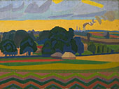 The Beanfield Letchworth 1912 By Spencer Gore